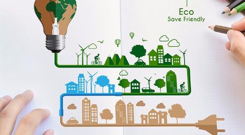 quelqu'un en train de dessiner sur le thème du mode de vie écologique et de la meilleure utilisation de l'électricité