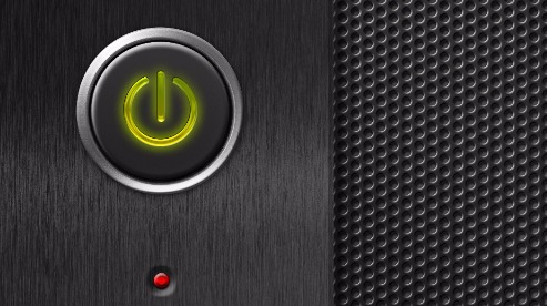 Un bouton veille enclenché sur un appareil électronique