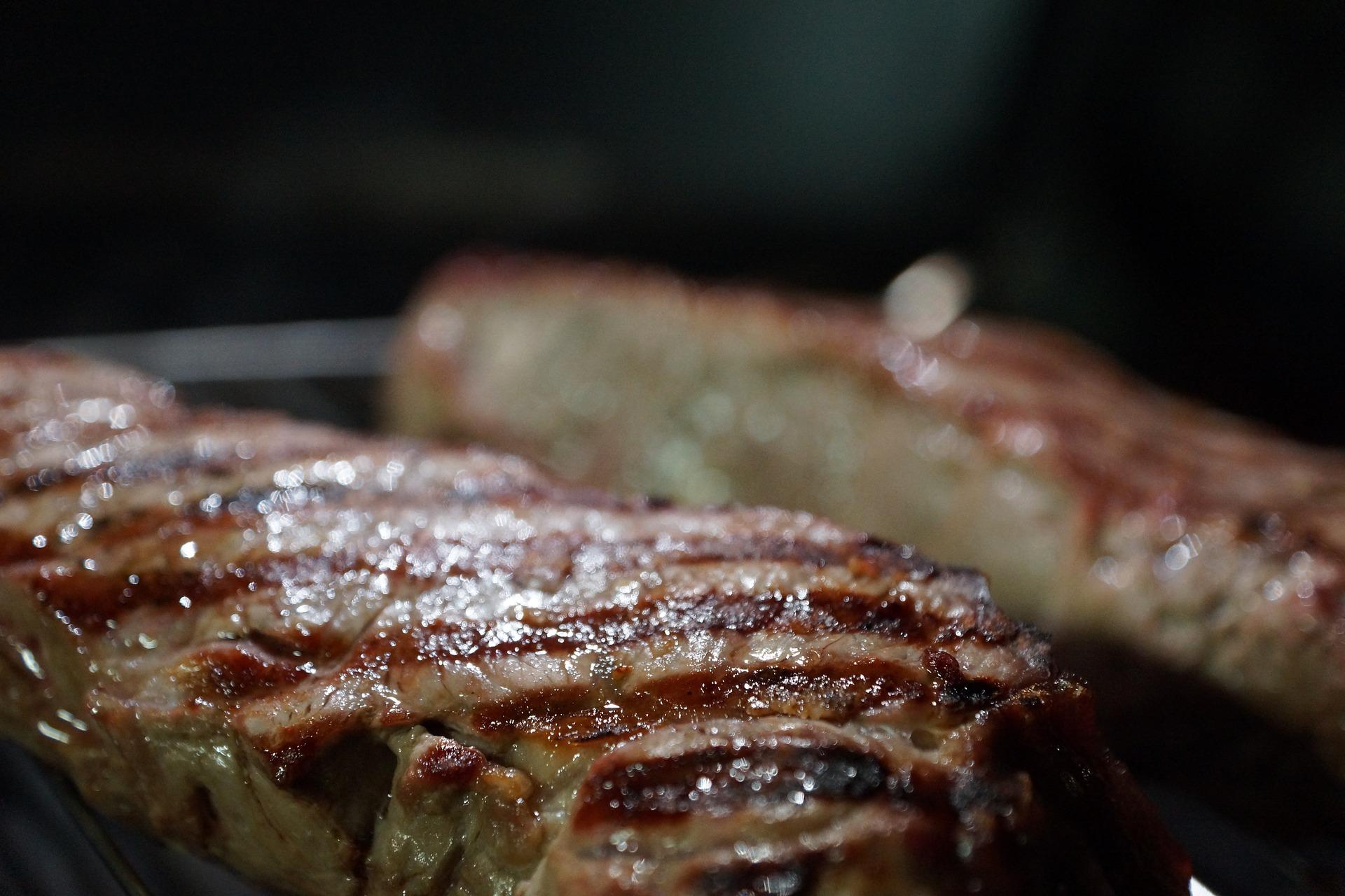 La viande est parfaite avec la cuisson au gaz naturel.