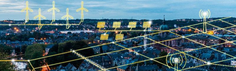 le dessin du réseau de demain devant une ville