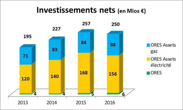 Investissements nets
